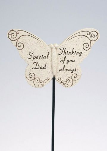 Special DAD Butterfly Sentimental Memorial Grave Stick DF13264D